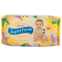 Салфетки влажные с клапаном Superfresh для детей и мам 60шт